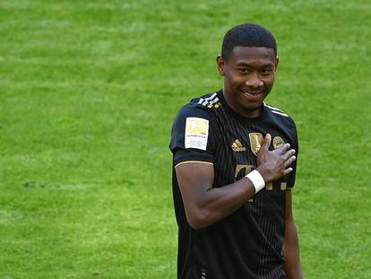 David Alaba, hace una semana durante el Bayern-Augsburg.