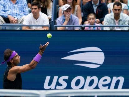 Nadal, durante su participación en 2019 en el US Open.