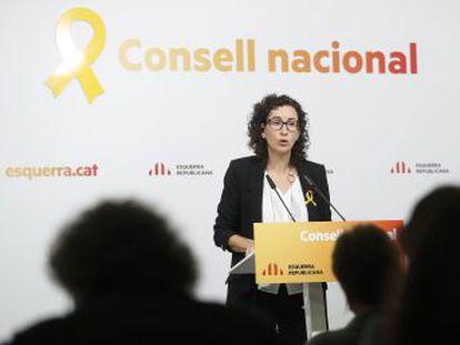 Marta Rovira, de 40 años, ungida por Junqueras a presidir la Generalitat, ha desarrollado toda su vida política en ERC