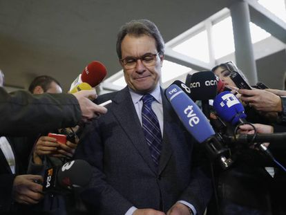 Artur Mas en la facultad de Derecho de la Universidad Autónoma de Madrid.