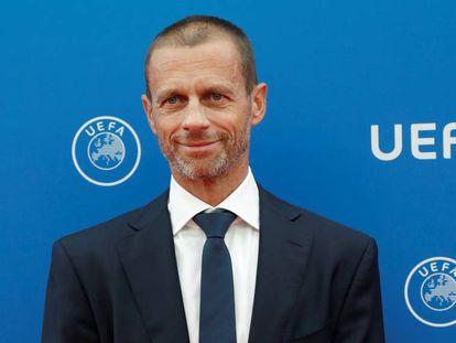 El presidente de la UEFA, Aleksander Ceferin, el 30 de agosto en Montecarlo.