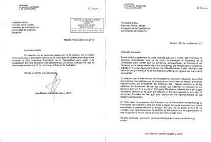 Las respuestas de Margallo a las cartas de Homs.