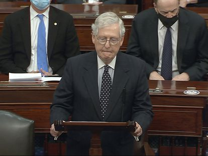 Mitch McConnell, líder de la mayoría republicana en el Senado.