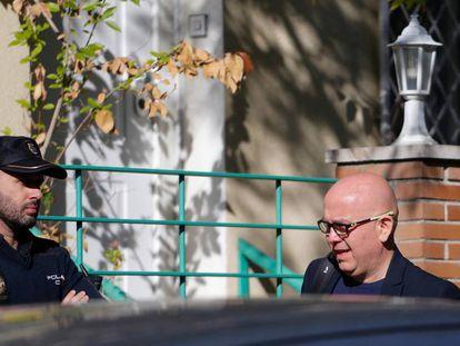 Gonzalo Boye, durante el registro en su despacho de Madrid, en octubre de 2019.
