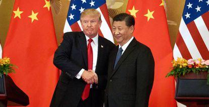 Donald Trump y Xi Jinping, en Pekín (China), en noviembre de 2017.