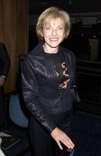 Mary Austin, en una de sus escasas apariciones públicas en una fiesta en Londres en 2002.