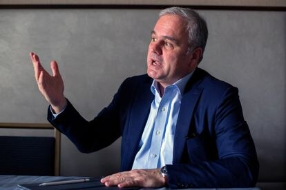 Stefan Oelrich, responsable global de Bayer Farmacéutica, en una conferencia en San Francisco (EE UU), en enero de 2020.