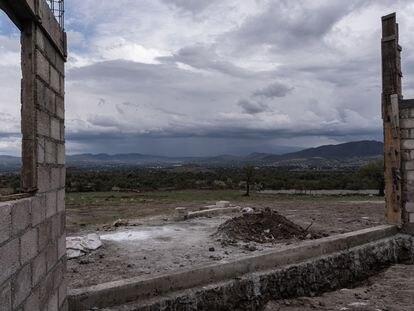 Construcción ilegal en las inmediaciones de las pirámides de Teotihuacan, el pasado 14 de mayo.