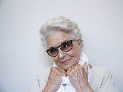 Lola Herrera, en el teatro Bellas Artes de Madrid.