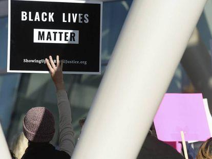 Protesta del pasado 8 de octubre en Salt Lake City (Estados Unidos) para pedir justicia por la muerte de Patrick Harmon, que fue disparado por un policía el 13 de agosto pasado.