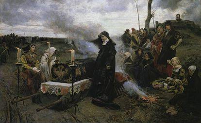 El cuadro 'Doña Juana la loca', de Francisco Pradilla, expuesto en el Museo del Prado.