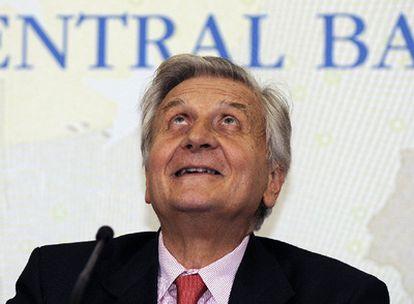 El presidente del BCE, Jean-Claude Trichet, durante una conferencia de prensa, ayer en Venecia.