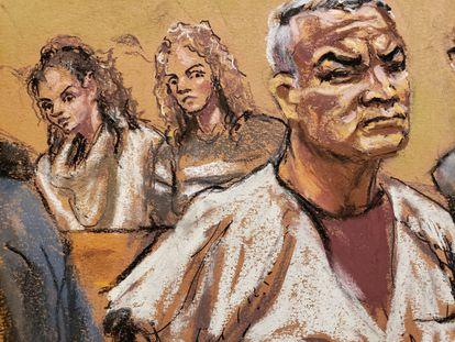 Una de las audiencias del caso de Genaro García Luna en Nueva York.