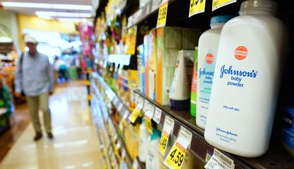 Baby powder in a California supermarket, in a photo from 2017.