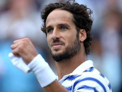 Feliciano López, en un partido de tenis.