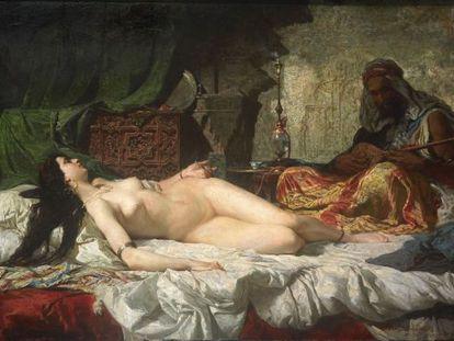 'La odalisca', obra de Fortuny que se puede ver en Reus.