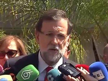 Declaraciones de Rajoy en Murcia.