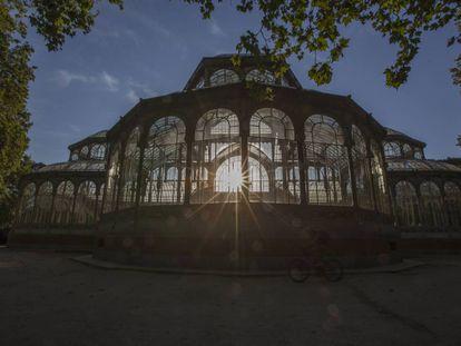El palacio de cristal del Retiro.