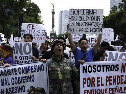Imagen de la manifestación de este sábado en México DF.