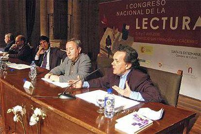 Javier Echeverría, Antonio Rodríguez de las Heras, Francisco Serrano, José Antonio Millán y Francisco Jarauta (de izquierda a derecha).