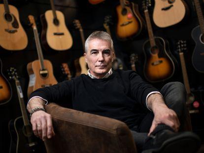 David Cantero,en la tienda Arde Madrid, el jueves 18 de marzo de 2021.