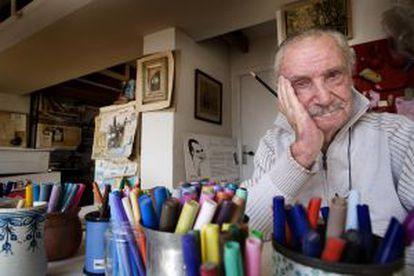 El dibujante de historietas y cómics Joaquim Muntañola, en 2008