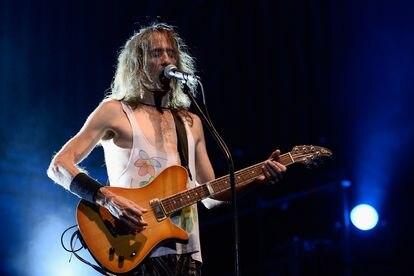 Robe Iniesta, durante un concierto de Extremoduro en septiembre de 2014 en Madrid.