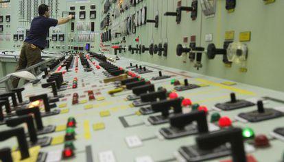 Panel de control de la central nuclear de Garoña (Burgos)