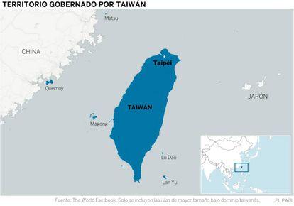 El gobierno de Taipéi controla de facto varios archipiélagos en torno a la isla de Taiwán (información facilitada por Mario Esteban, Real Instituto Elcano).