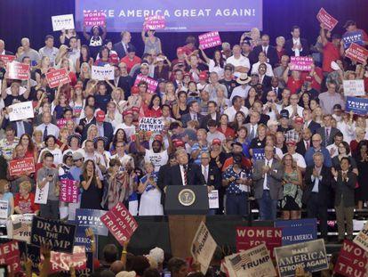 Donald Trump, el martes durante el discurso en Phoenix, Arizona.