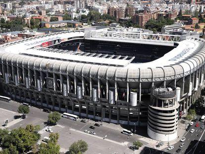 Vista del estadio del Real Madrid, Santiago Bernabéu.