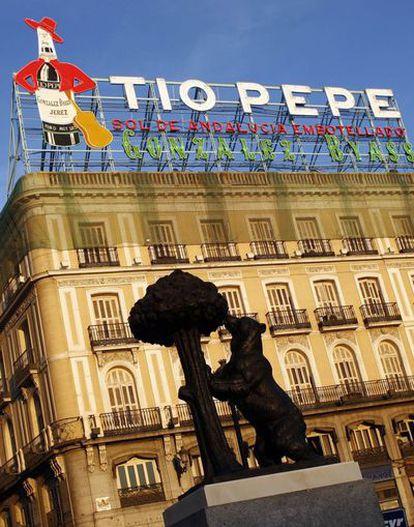 El rótulo de Tío Pepe, en la Puerta del sol, es uno de los más emblemáticos de la capital