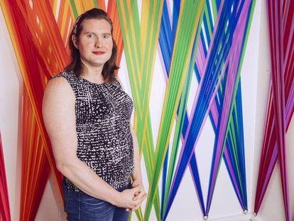 Charlotte Clymer, en las oficinas de Human Rights Campaign en Washington.
