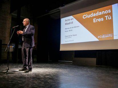 Francisco Igea, en el acto de presentación de su candidatura a presidir Cs.