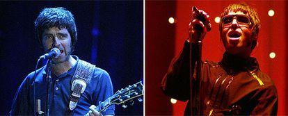 Los hermanos Noel (izquierda) y Liam Gallagher (derecha)