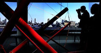 Una vista de la instalación en el IVAM, ayer, en la presentación de la exposición.