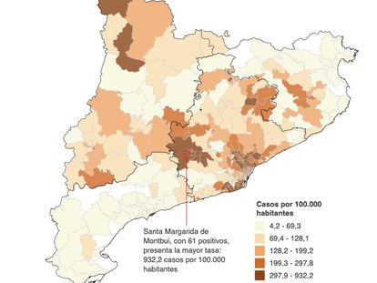 El azote del coronavirus en Cataluña, pueblo a pueblo