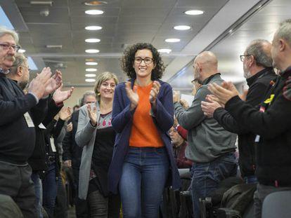 La secretaria general de ERC, Marta Rovira, en el consejo nacional del partido