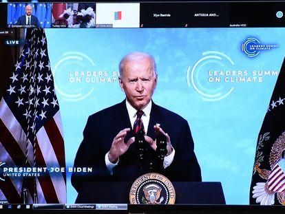 Joe Biden interviene este jueves por videoconferencia en la cumbre global del clima.
