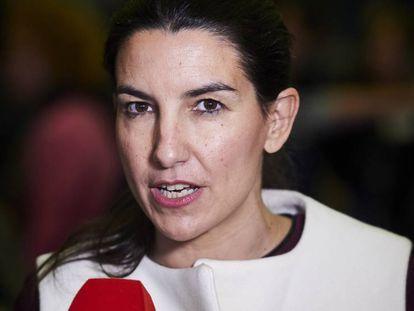 Rocío Monasterio, durante un acto en Ifema el pasado 15 de enero. En vídeo, sus declaraciones en Telemadrid respecto al caso.