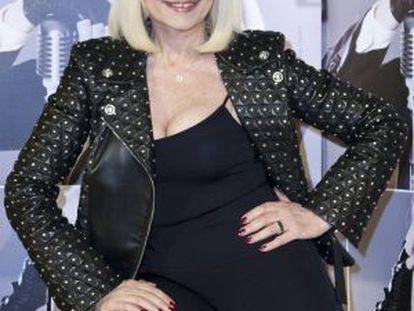 Raffaella Carrà, durante la promoción de su más reciente disco.