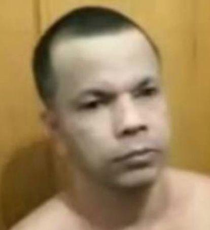 Clauvino da Silva, en una imagen tomada por los funcionarios de la cárcel tras descubrir su disfraz.