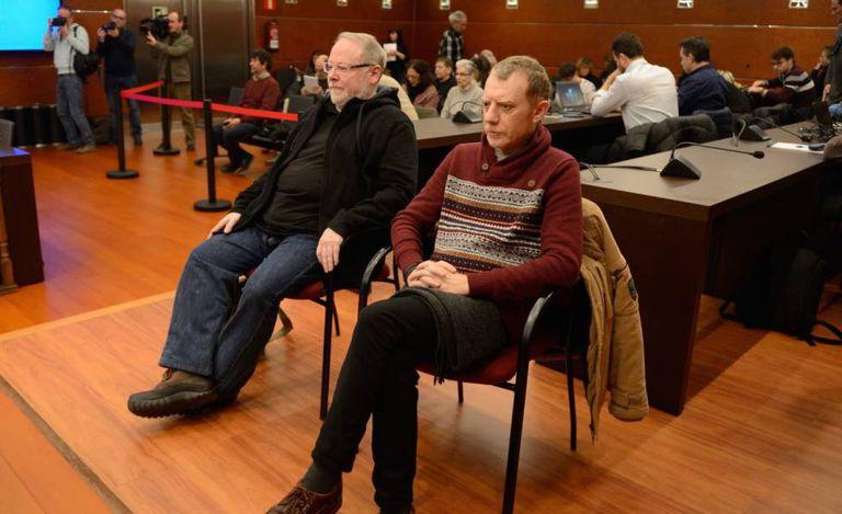 Eliseo Gil y Rubén Cerdán, acusados del fraude, este miércoles en la última sesión del juicio.