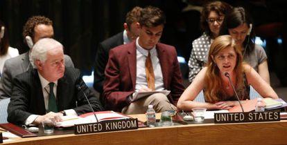 La embajadora estadounidense ante Naciones Unidas, Samantha Power.