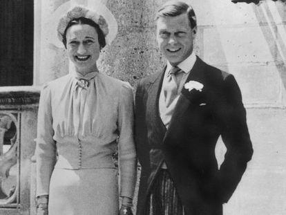 Los duques de Windsor, el día de su boda en 1937.