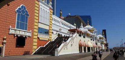 El mítico paseo marítimo de Atlantic City, con el casino Showboat.