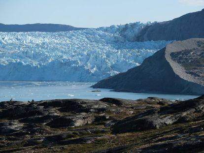 Deshielo de un glaciar en Groenlandia.