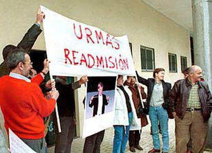 Padres de los integrantes de la Joven Orquesta de Málaga protestan por el despido de Tammik.