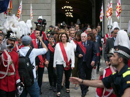Colau y Maragall el día de la investidura de la alcaldesa.