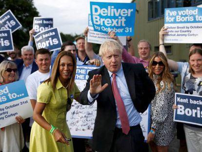 Boris Johnson, durante un acto de la campaña por el liderazgo conservador el pasado jueves.